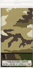 1 Military Camo Plastic Tablecover